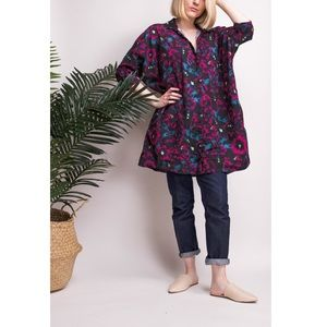 & Other Stories floral print button down tunic top